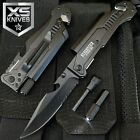 """8.75"""" TACTICAL MULTI-FUNCTIONAL Spring Assisted Pocket Knife Outdoor Rescue"""