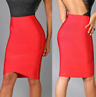 Womens New Sexy Cherry Red Elastic Arched Bandage Luxe Pencil Skirt