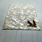 Bunkar Handmade Leather Cowhide Rug 'Metallic Gold' Chevron