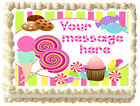 LOLLIPOPS CANDY ICE CREAM Edible image cake topper decoration