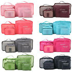 New 6pcs/Set Waterproof Travel Luggage Sorting Clothing Tidy Bag Organizer Case