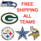 NEW NFL Colored Emblem for Cars or hard surfaces! ALL TEAMS FREE SHIPPING $23.5 USD on eBay
