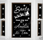 SANTA STOP HERE PERSONALISED Sticker WALL STICKER  XMAS WINDOW STICKER  S51