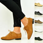 NEW WOMENS LADIES CASUAL LACE UP OXFORD LOAFERS BROGUES SHOES SIZE UK 3-8