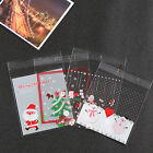 25pcs/lot Hot Christmas Gifts Bake Biscuit Cookies Candy Plastic Package Bags