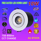 6pcs Fire Rated IP65 Waterproof 10W Dimmable COB LED Downlight Kits White Light