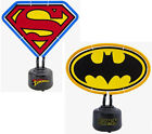 Batman/Superman Logo Shaped Neon Table Light - New & Official DC Comics In Box