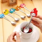 Silicone Cartoon Stainless Steel Tea Coffee Spoon Ice Cream Cutlery Kids Gift