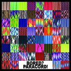 Kyпить 550 Paracord Rope Mil-Spec Type III - 60 More Colors & Patterns! - 25-50-100 ft на еВаy.соm