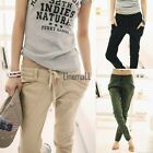 Womens Stretch Candy Pencil Slack Pants Casual Slim Fit Skinny Jeans Trousers LM