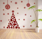 CHRISTMAS WINDOW DECORATION  XMAS TREE STICKERS CRISTMAS WALL STICKERS / S62