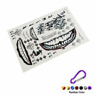 New Fashion Halloween Party Joker Jared Leto Temporary Face Mouth Tattoo Cosplay