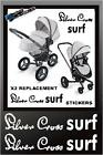 x2 Silver Cross SURF Pram Pushchair Replacement Chassi Vinyl Stickers Any Colour
