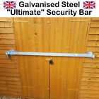 ULTIMATE Galvanized Door & Window Security Bar Heavy Duty Shed Garage Window