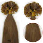 100s Fusion Pre Bonded Nail U Tip Premium Remy Human Hair Extensions Light Brown