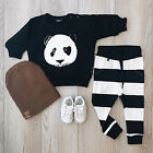Panda Newborn Toddler Infant Kids Baby Boy Clothes T-shirt Top+Pants Outfits Set