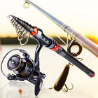 Saltwater Freshwater Strong Portable Telescopic Fishing Rod and Reel Combos Kit