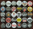 Rock Music Button Badges. 25mm in Size. Bargain.  :0)