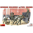 Mini-Art German Soldiers with Fuel Drums - Plastic Model Military Figure - 1/35