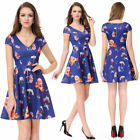 Ever Pretty Women's Navy Blue Sleeveless Short Casual Party Prom Dress 05457