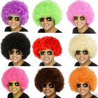 Unisex Multi-Color Afro Style Short Curly Wave Wig Ball Game Fans Halloween Hair