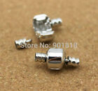 5/50set Plated Silver Clasps For European Big Hole Beads Charm Bracelet Finding