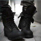 Mens Retro Combat boots Winter England style fashionable short shoes 2 Colors