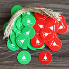 Xmas Tree Hang Tag W/ String Label Party Favor Gift Price Card Note Home Decor a