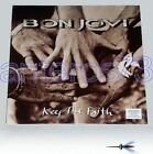 "BON JOVI ""KEEP THE FAITH"" RARE LP 1992 + STICKER ITALY"