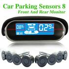 Auto Car Parking Sensors 8 Weatherproof Rear Front View Reverse Backup Rada hv2n