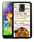 THANKSGIVING RUBBER CASE FOR SAMSUNG S5 S6 S7 S8 EDGE PLUS TURKEY TEXT