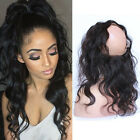 360 Lace Band Frontal Closure Indian Virgin Hair With Baby Hair Natural Hairline