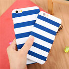 Blue Stripe Ultrathin Hard Back Phone Case Cover For iPhone 6 6s Plus 5s