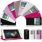 View Window Folio Flip Leather Cover Stand Case For Huawei Ascend P8 Lite 5.0""