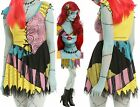 Sally Cosplay Costume Dress Wig Choker Tights Bow The Nightmare Before Christmas