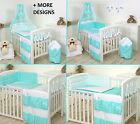 MINT STARS BABY BEDDING SET COT COT BED 3,5,9 Pieces COVER BUMPER CANOPY+more