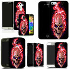 art case cover for various Mobile phones - red fire skull silicone