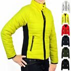 Ladies Smart Quality Puffer Quilted Padded Jacket Warm Thick Bomber Womens Coat