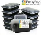 Pack of 10 x Compartment Plastic Food Containers 1,2,3 W/ Lid Lunch Box Storage