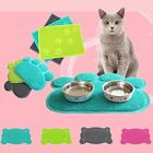 Pets Feet Mat Placemat Radiating Cute Dog Cats Sleeping Feeding Pads Paw Shape
