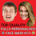 Personalised Face Masks Custom Made to order Photo Card Cheap Self Cut kit