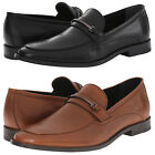 Calvin Klein Mens Nordon Slip-On Moc Toe Bit Strap Business Casual Loafers Shoes