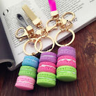 Внешний вид - Cute Girls Macaron Keyring Cake Keychain Metal Key ring Chain Keyfob Gift