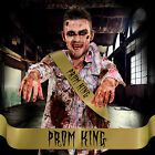 MENS PROM KING SASH Beauty Queen Horror Halloween Fancy Dress Outfit Costume