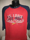 MLB St Louis Cardinals Baseball Raglan Style Shirt Mens Sizes Nwt Majestic