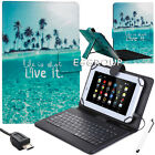 "Stand Leather Case Cover Micro USB Keyboard For Lenovo Tab 7"" 8"" 10.1"" Tablet PC"
