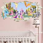 My Little Pony Smashed Wall Crack Kids Boy Bedroom Decal Art Sticker Gift New