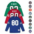 NFL HOF LEGENDS Long Sleeve MITCHELL & NESS Jersey Inspired Knit Top Collection $39.99 USD