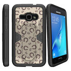 For Samsung Galaxy J1 J120 Holster Clip Stand + Tempered Glass Case Tree Camo
