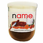 CHRISTMAS Personalised NUTELLA label Kids Party Gift Love Fun Chocolate Spread